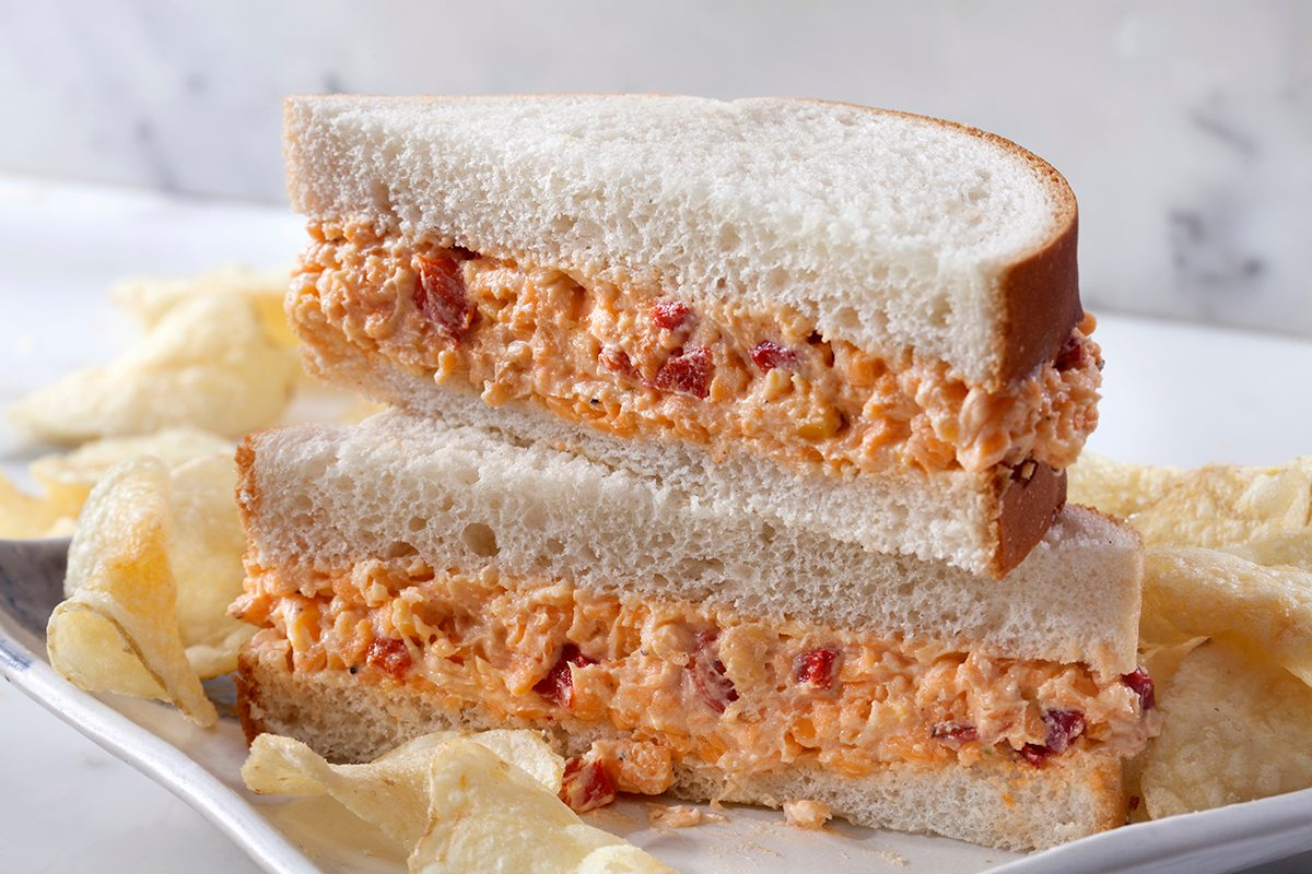 Pimento Cheese Sandwich on White Bread