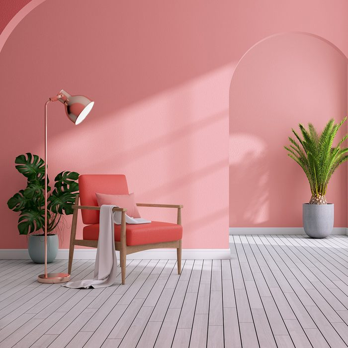Pink room with pink furniture