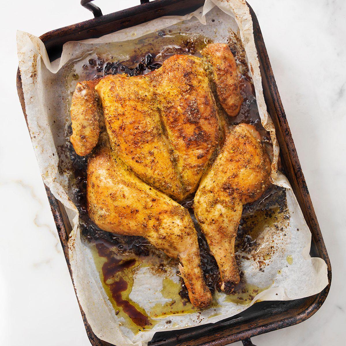 Roasted Spatchcock Lemon Turkey