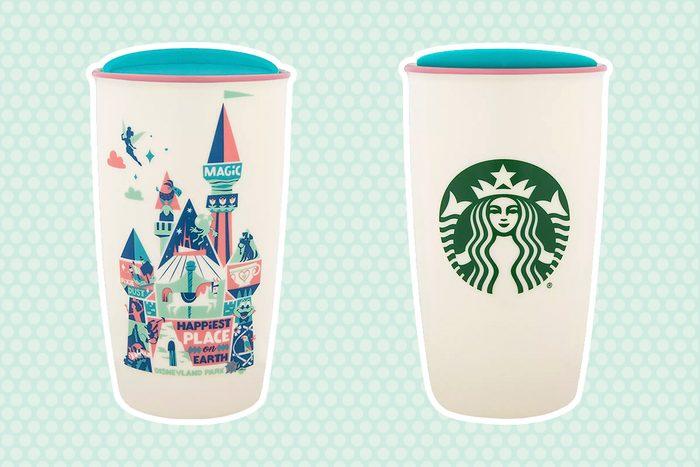 Disneyland Park Starbucks Ceramic Travel Tumbler