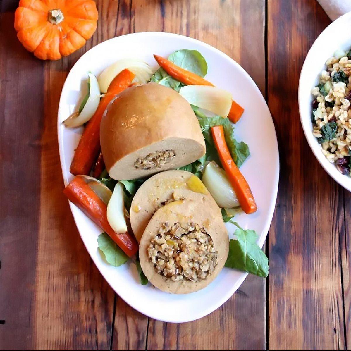 Tofurky Roast for a Vegetarian Thanksgiving dish