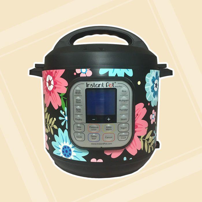 16 Colors! - Vivid flowers - Colored Background - Instant Pot wrap InstaPot Premium non-adhesive waterproof wrap by Instant Wraps.