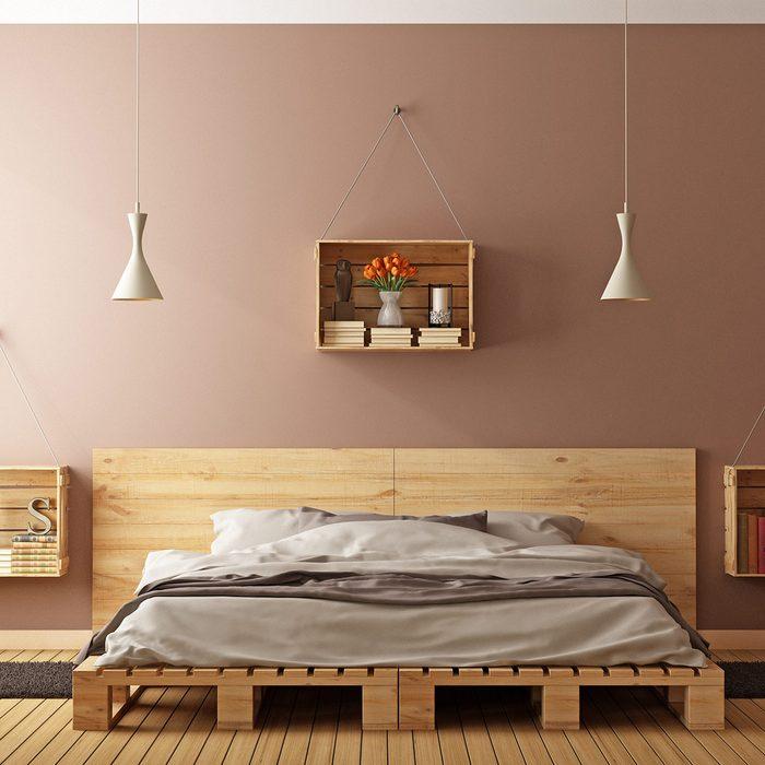 Warm brown bedroom