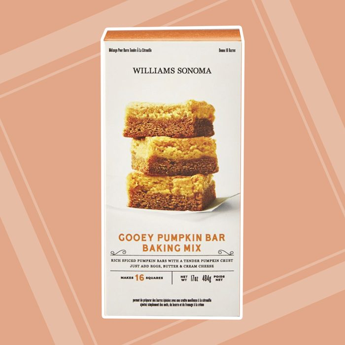 Williams Sonoma Gooey Pumpkin Bar Baking Mix Box