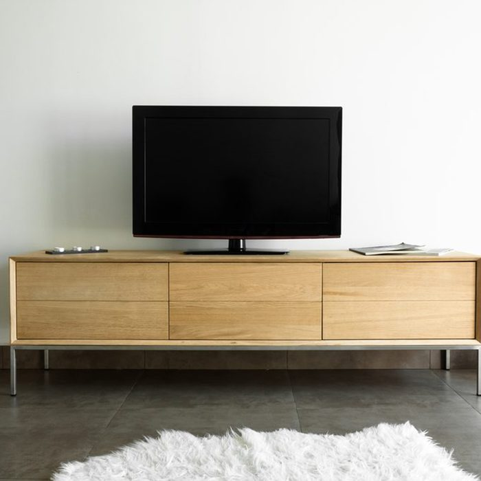 Tv on a stand in a living room