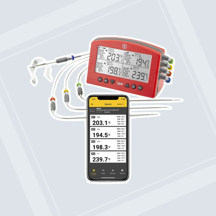Signals™ BBQ Alarm Thermometer with Wi-Fi and Bluetooth® Wireless Technology