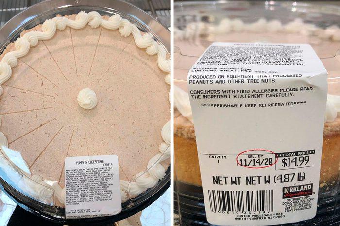 Costco giant pumpkin cheesecake