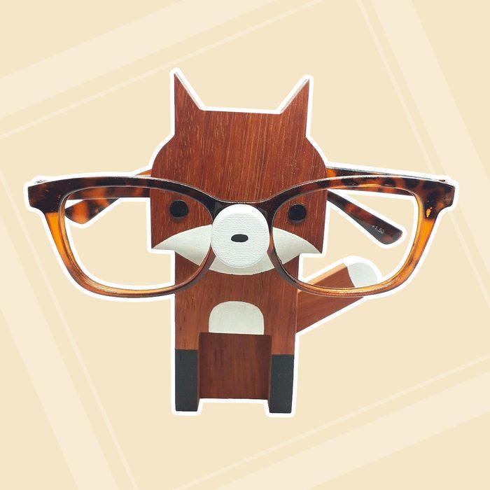 Fox Wearing Eyeglasses Stand