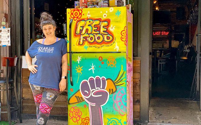 Friendly fridge with free food