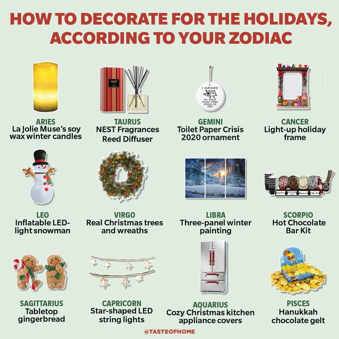 How to Decorate for the Holidays, According to Your Zodiac