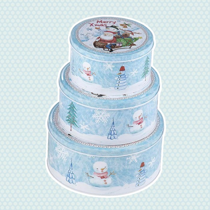 Juvale Nesting Cookie Tin Set