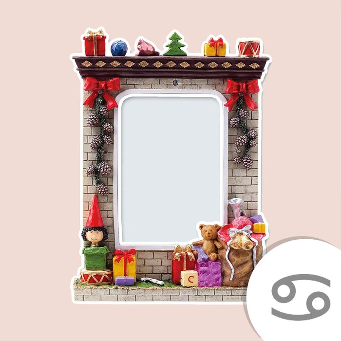 Light Up Christmas Winter Resin Picture Frame