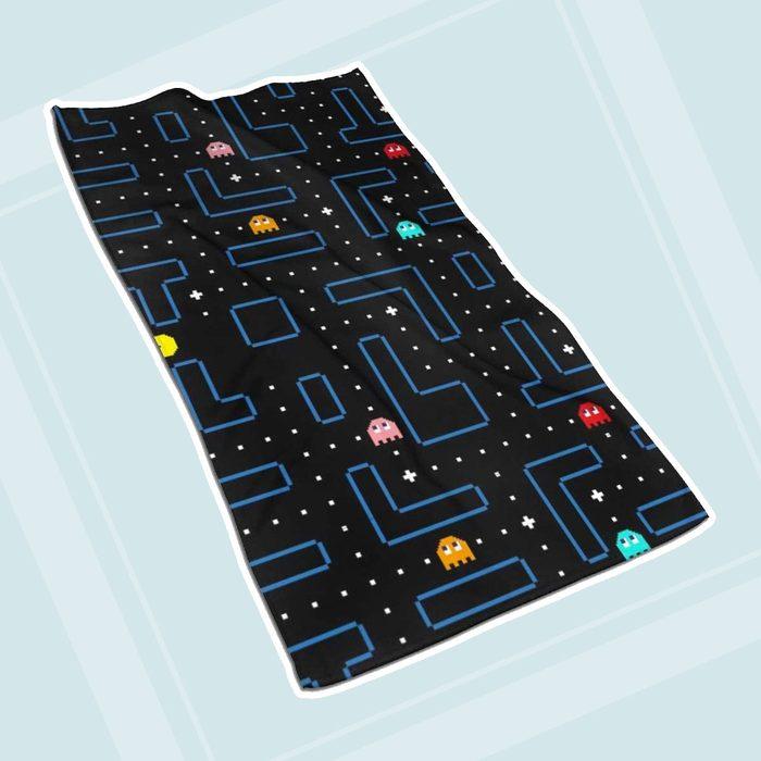Homebasic Pac Man Retro Arcade Gaming Design Microfiber Bath Towel