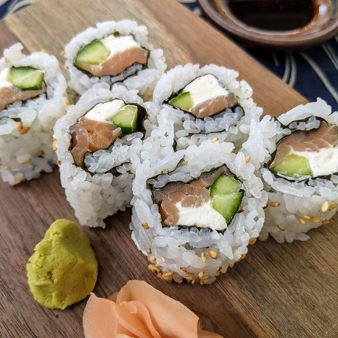 Philly Maki how to make sushi