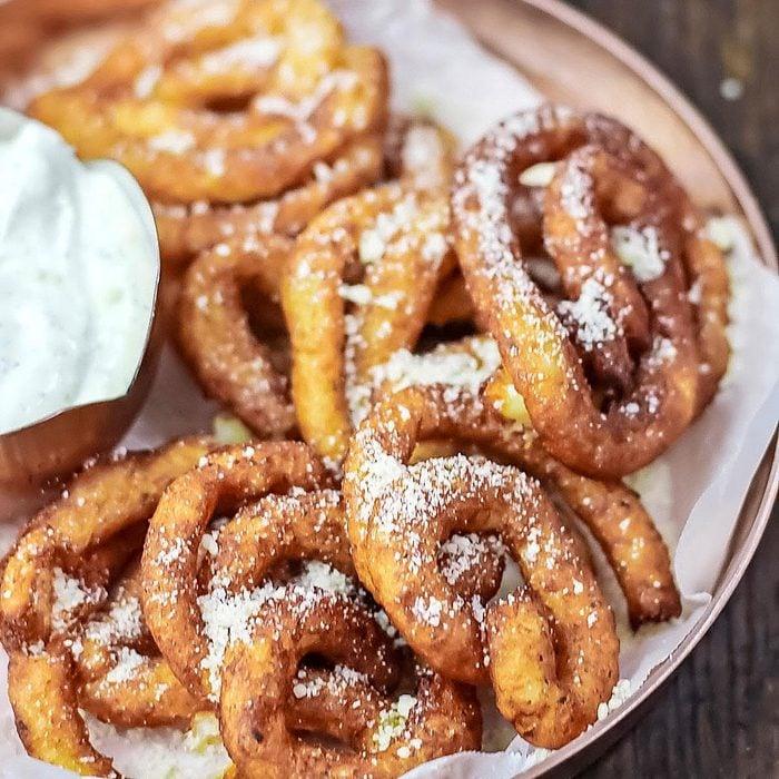 Potato Latke Funnel Cakes