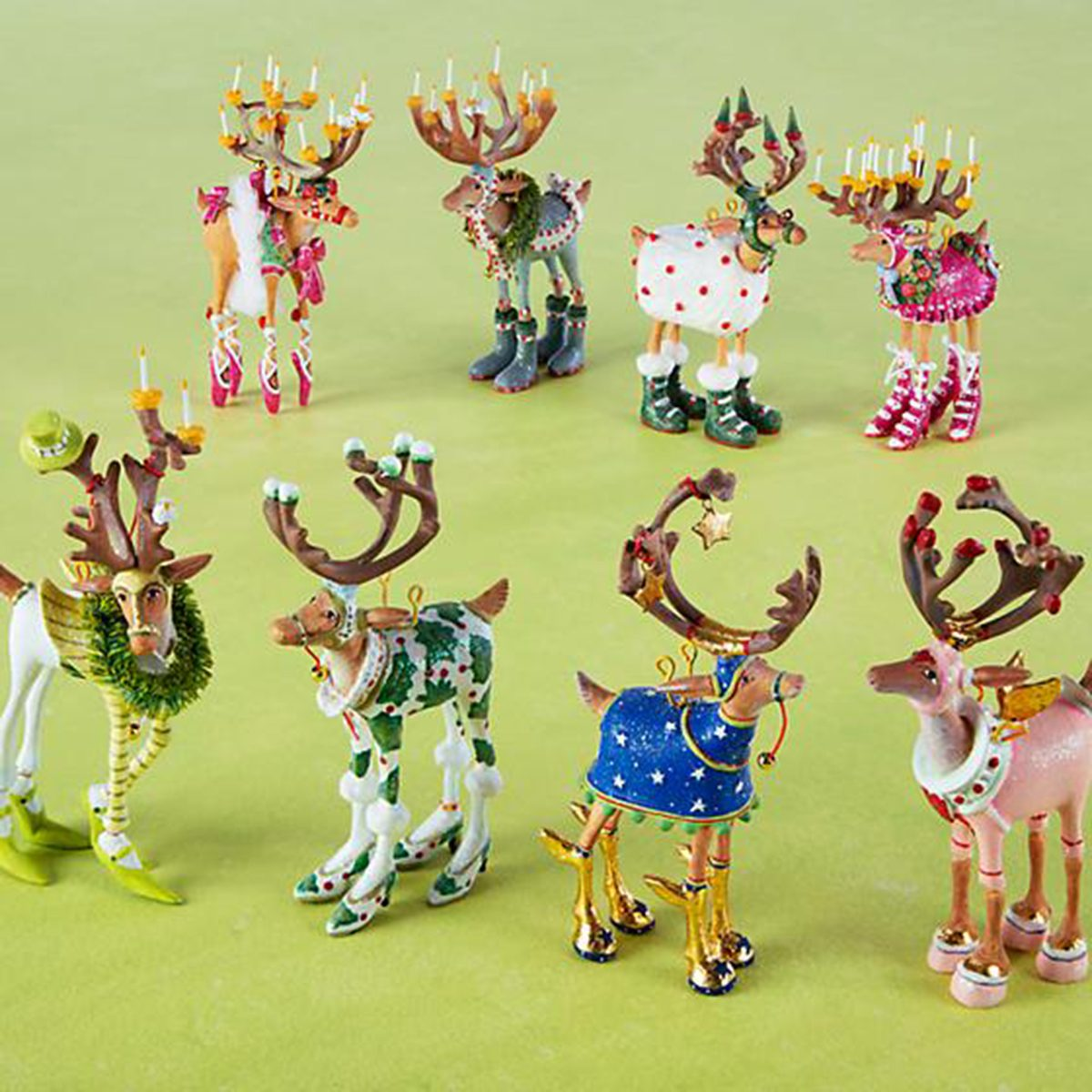 Reindeer Mini Ornaments Set
