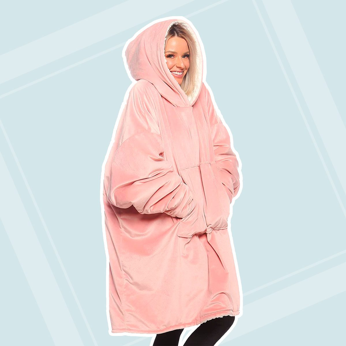 THE COMFY Original| Oversized Microfiber & Sherpa Wearable Blanket, Seen On Shark Tank, One Size Fits All
