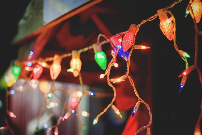 Low Angle View Of Illuminated Christmas Light At Night