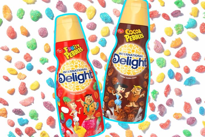 New Fruity Pebbles and Cocoa Pebbles International Delight creamers