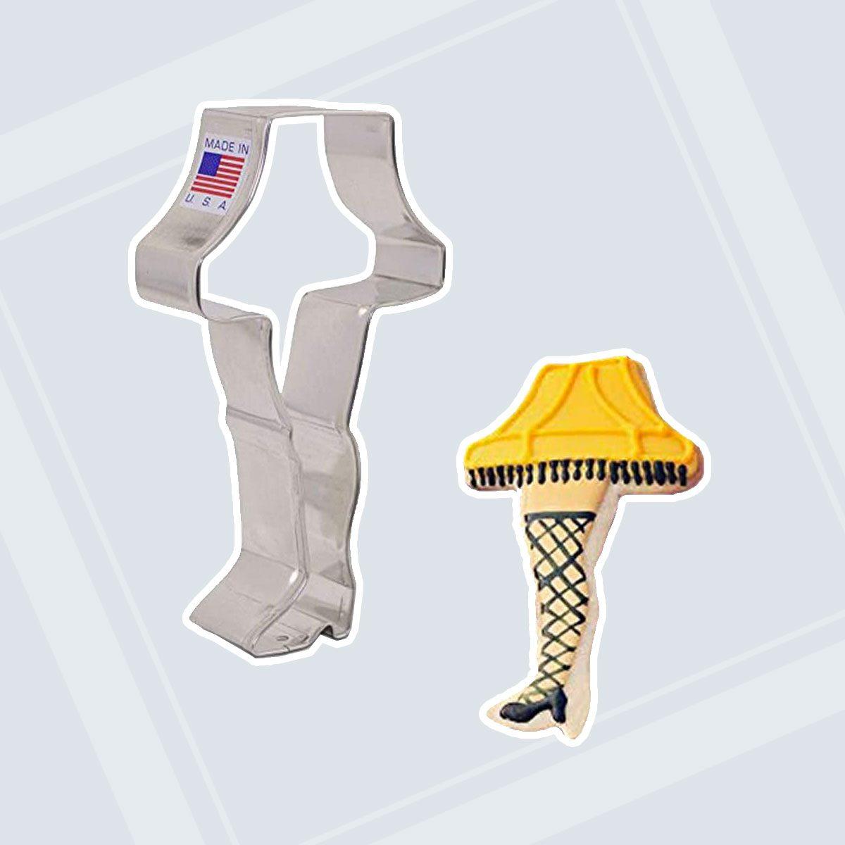 "Ann Clark Cookie Cutters Christmas Leg Lamp Cookie Cutter, 4.5"""