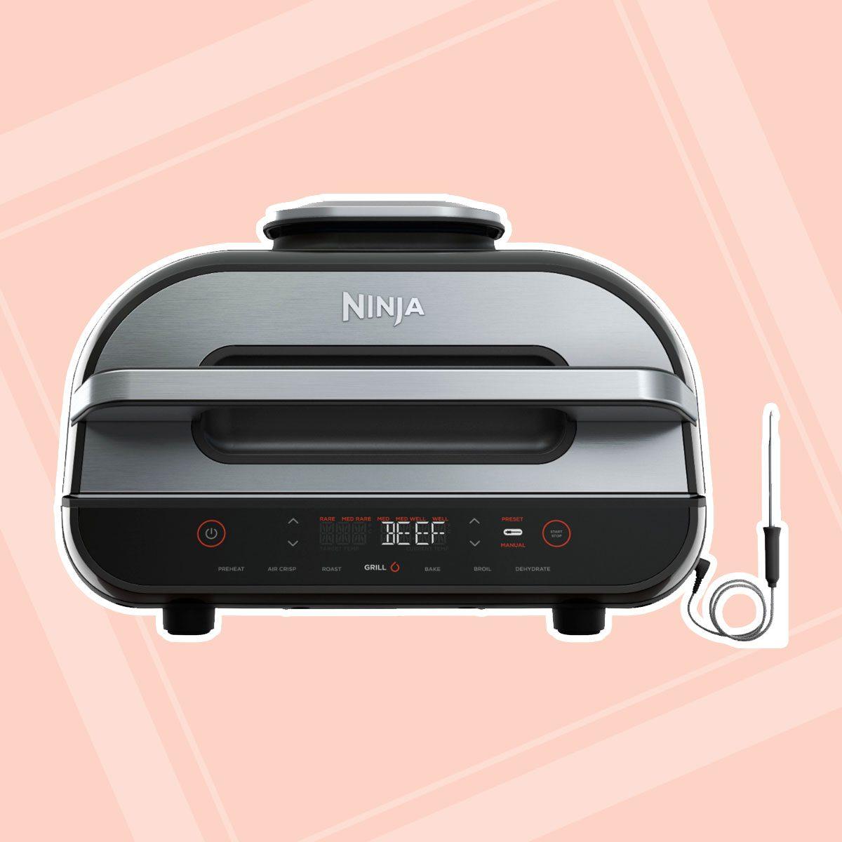 Ninja - Ninja® Foodi™ Smart XL 6-in-1 Indoor Grill with 4-qt Air Fryer, Roast, Bake, Broil, & Dehydrate - Black