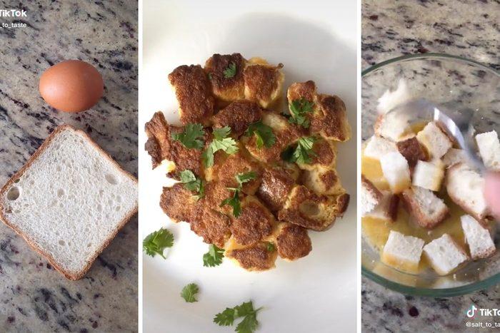 TikTok Crunchy bread with egg recipe