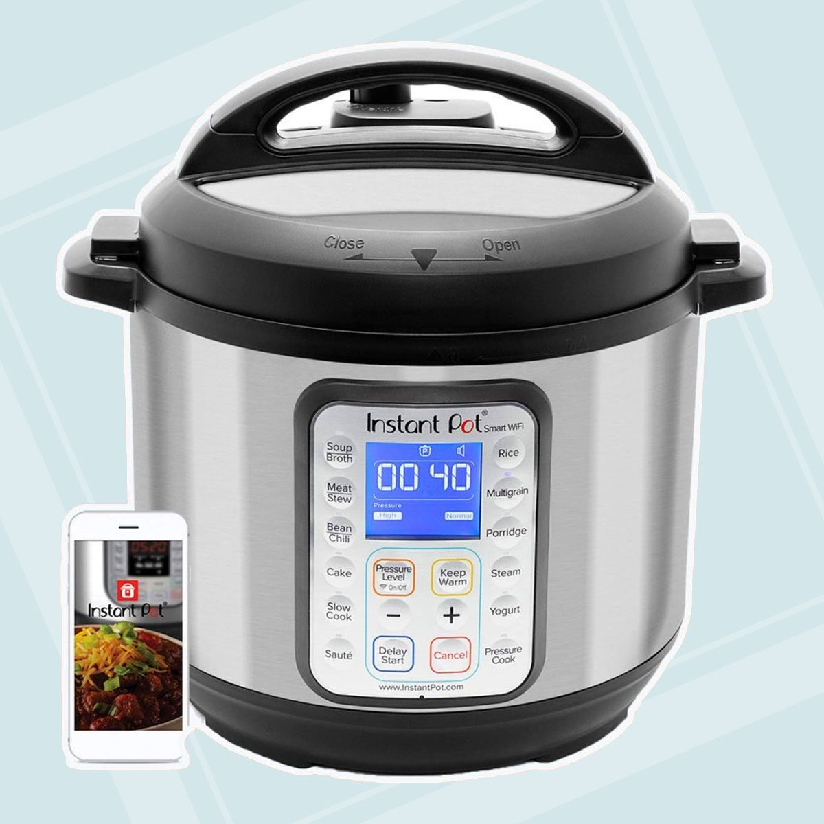 Instant Pot Smart WiFi 8-in-1 Electric Pressure Cooker, Slow Cooker, Rice Cooker, Steamer, Saute, Yogurt Maker, Cake Maker, and Warmer|6 Quart|13 One-Touch..