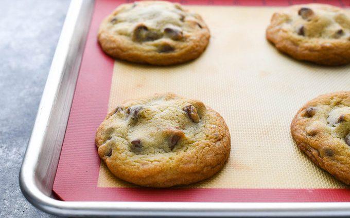 Nutella Stuffed Cookies on baking mat