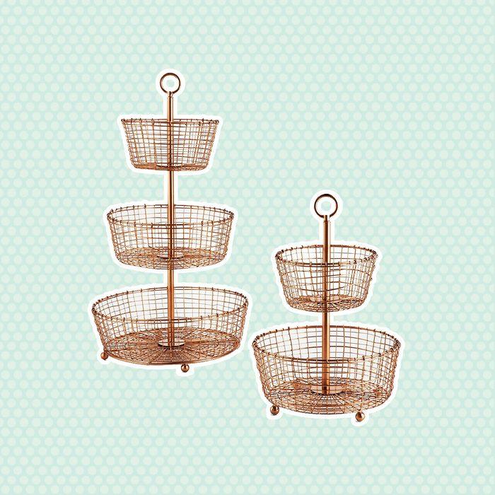 Bendt Tiered Copper Fruit Baskets
