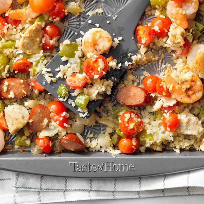 Sheet Pan Jambalaya With Cauliflower Rice Exps Rc20 253947 E09 09 5b 11