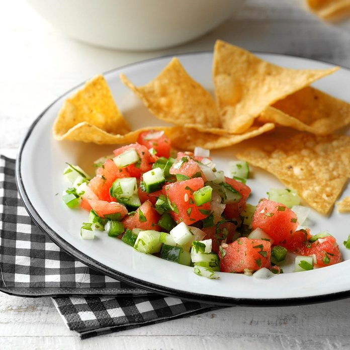 Watermelon and Cucumber Salsa