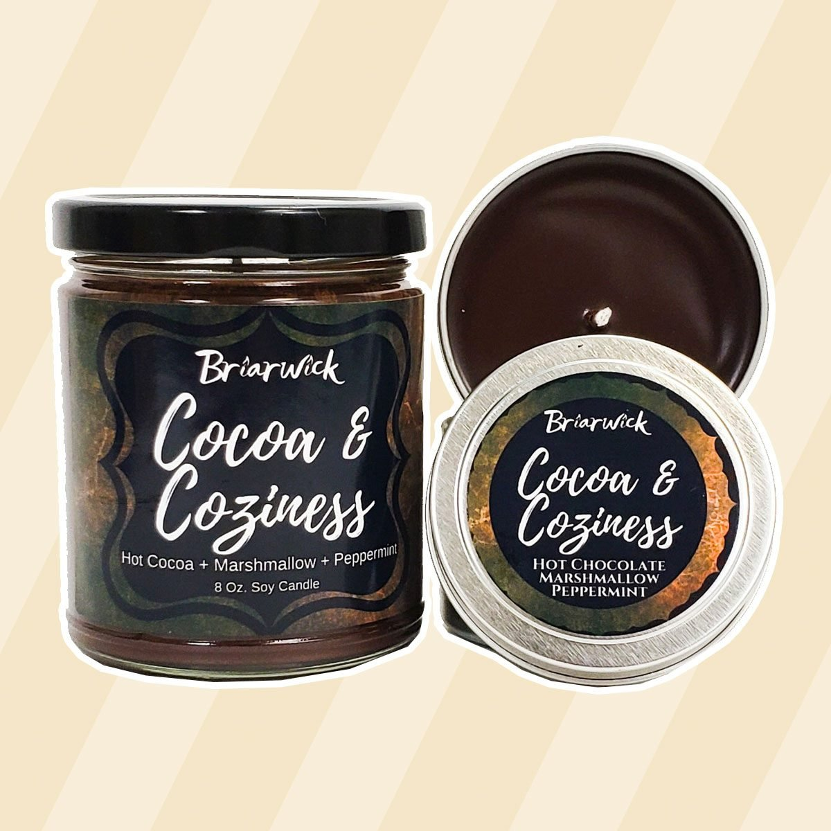 Cocoa and Coziness- Autumn & Winter Seasonal Exclusive- Soy Vegan Candle