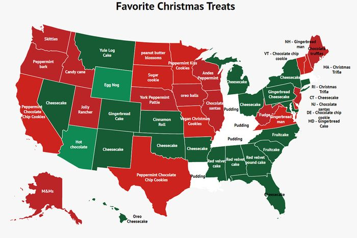 THE MOST POPULAR CHRISTMAS TREAT IN EVERY STATE