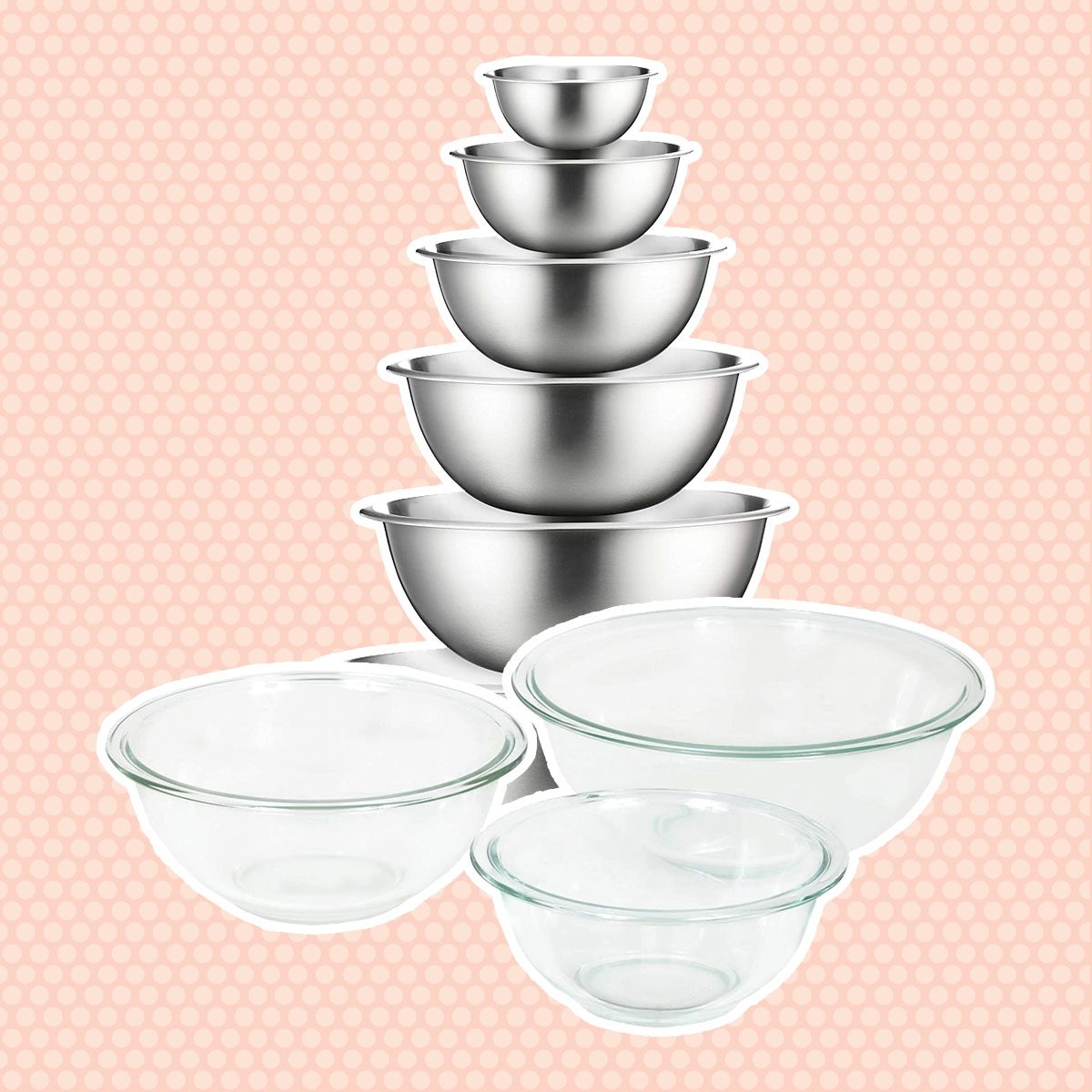 Stainless Steel or Glass Bowls
