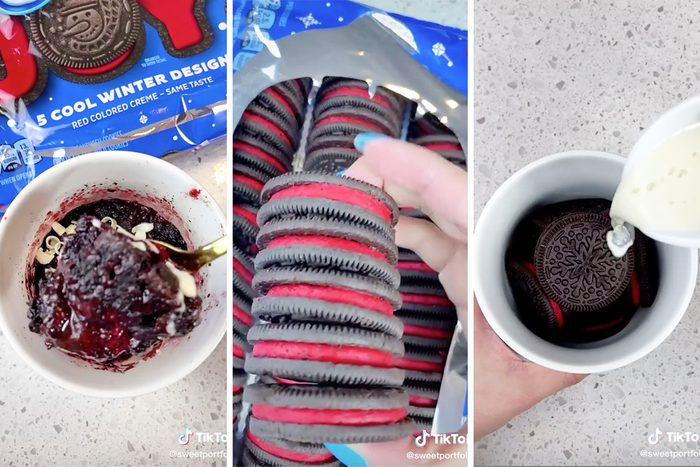 TikTok holiday oreo mug cake