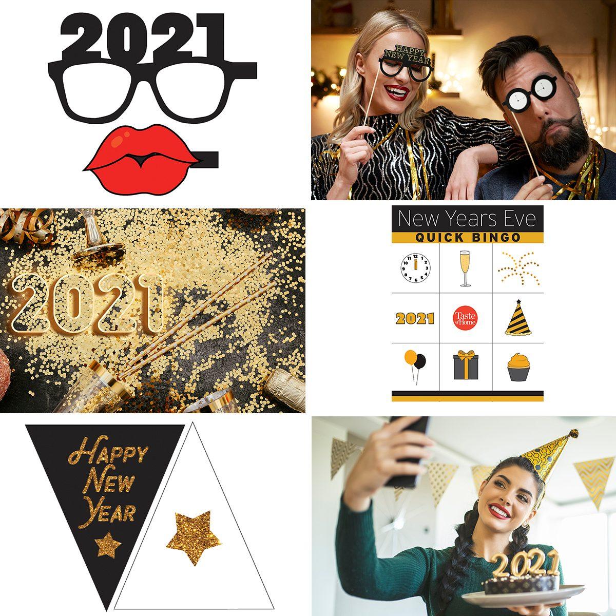 New Years cutouts