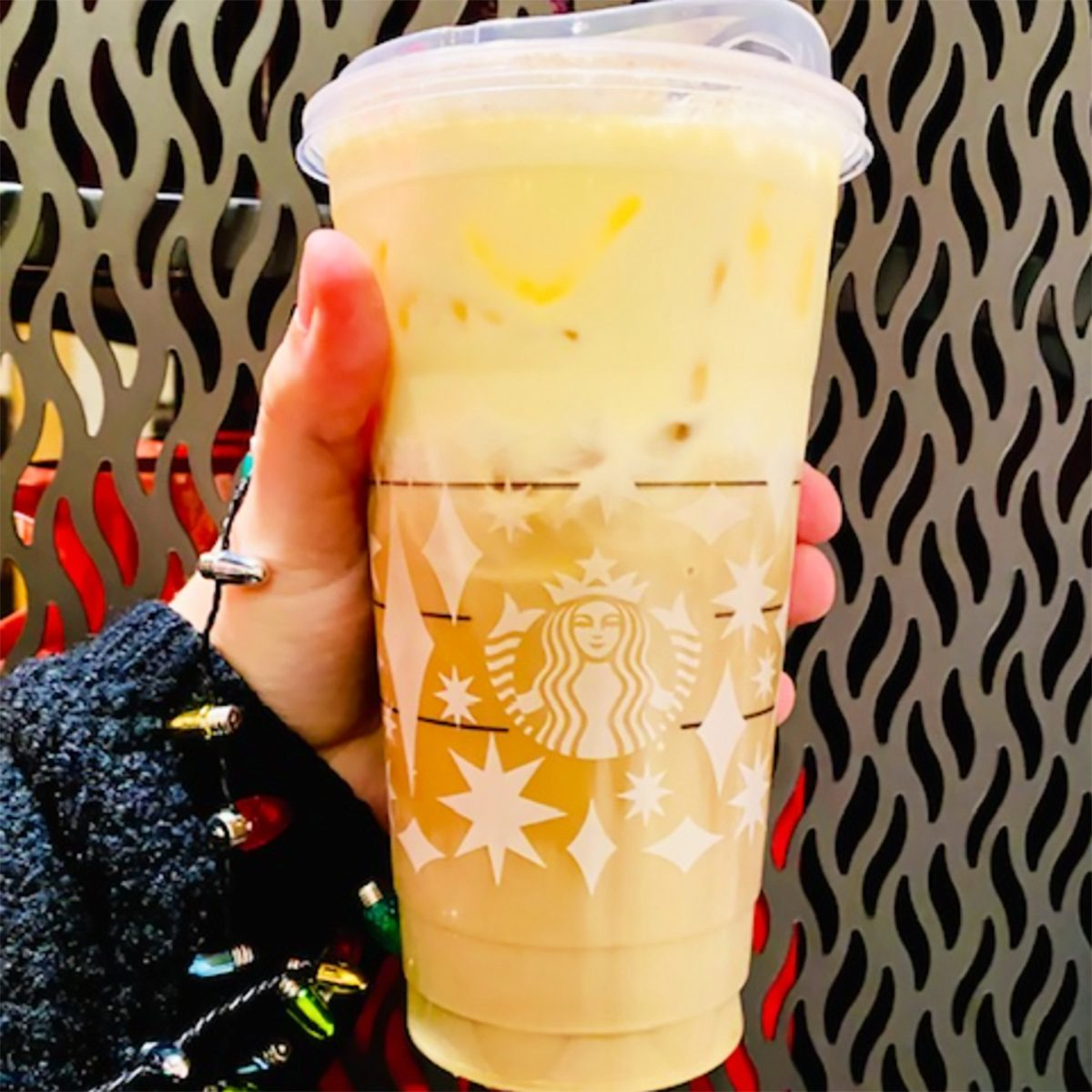 EGGNOG FLUFF COLD BREW FROM STARBUCKS