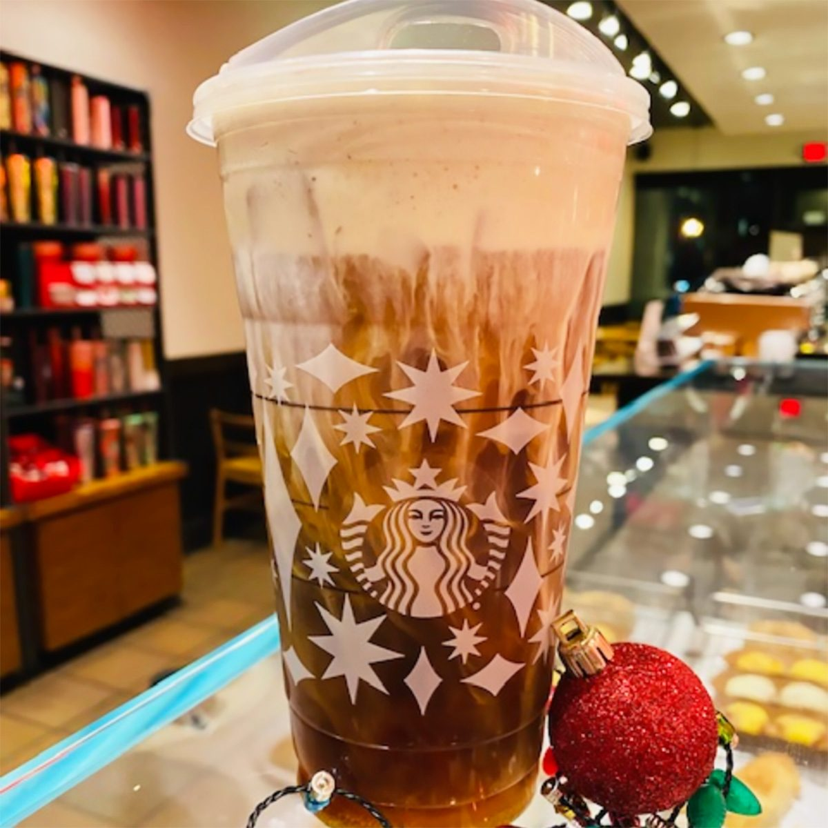 HOLIDAY SPICE COLD BREW AT STARBUCKS
