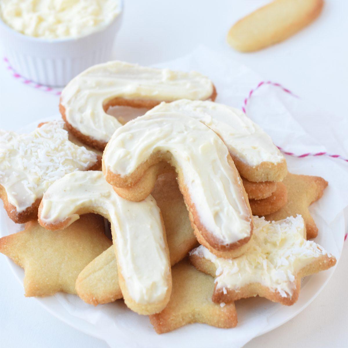 A pile of sugar-free sugar cookies