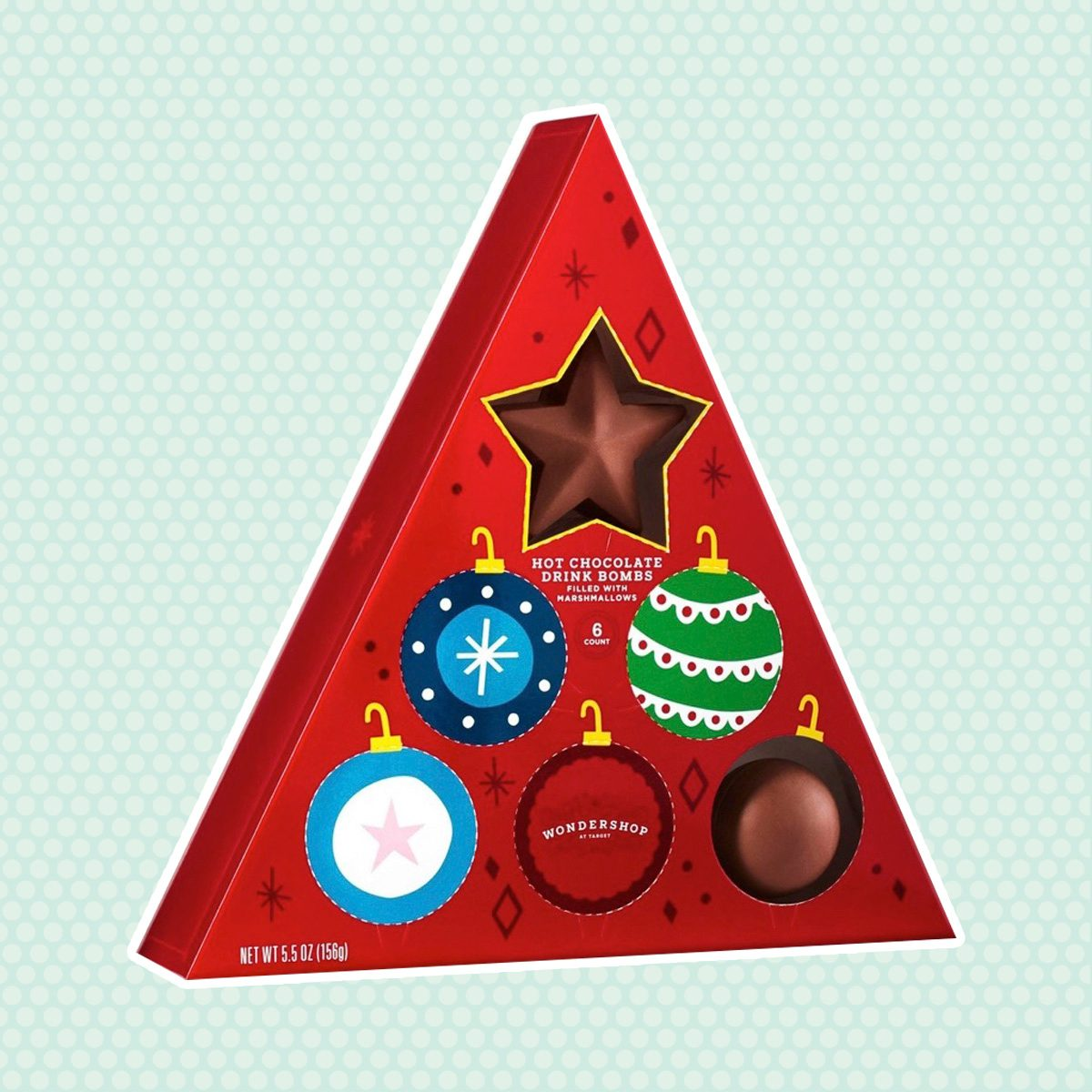 Holiday Advent Triangle Hot Chocolate Drink Bomb - 5.5oz - Wondershop™