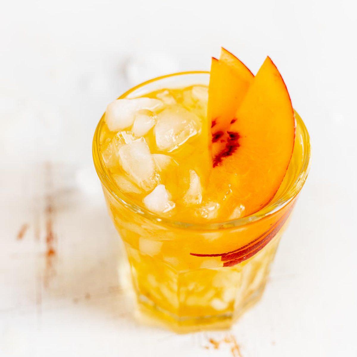 Cold Brew Peach Black Tea Spritzer