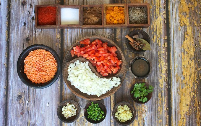 Ingredients used to make the best dal at home
