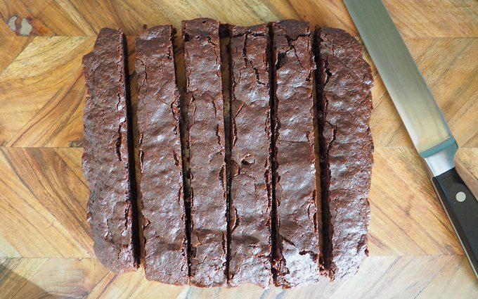 sliced cbd brownies