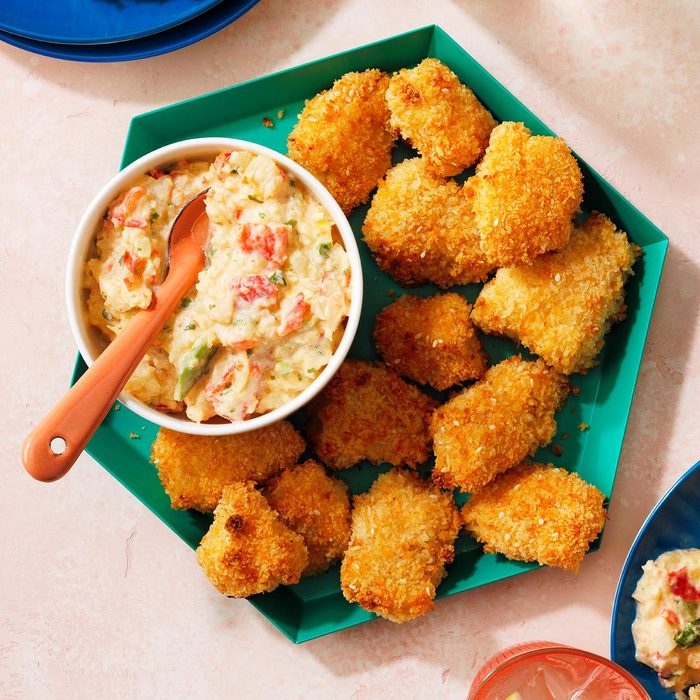 Coconut Chicken Nuggets With Creamy Caribbean Salsa Exps Tohfm21 110619 09 18 E 2b 1