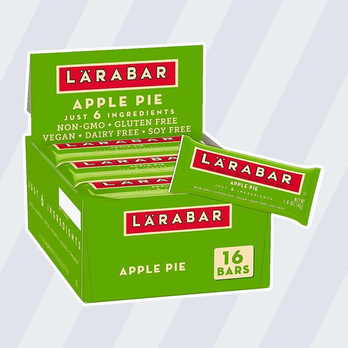 kosher snacks Larabar Gluten Free Bar, Apple Pie, 1.6 oz Bars (16 Count)