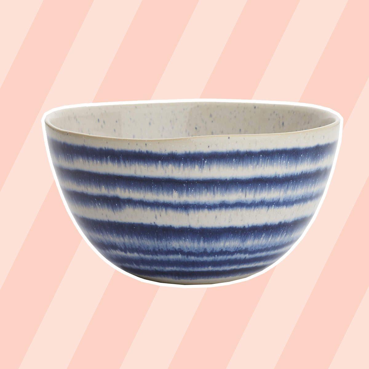Lina Blue Stripe Cereal Bowl