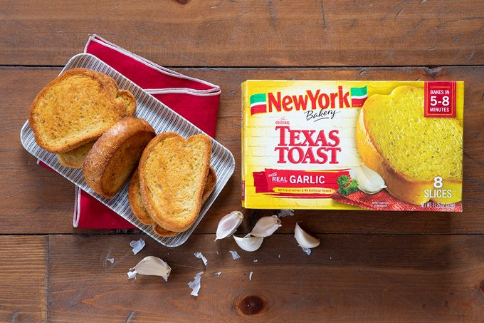 New York Texas Toast In Package And On Plate.