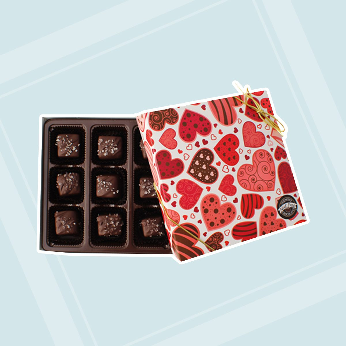 Valentine Sea Salt Caramels