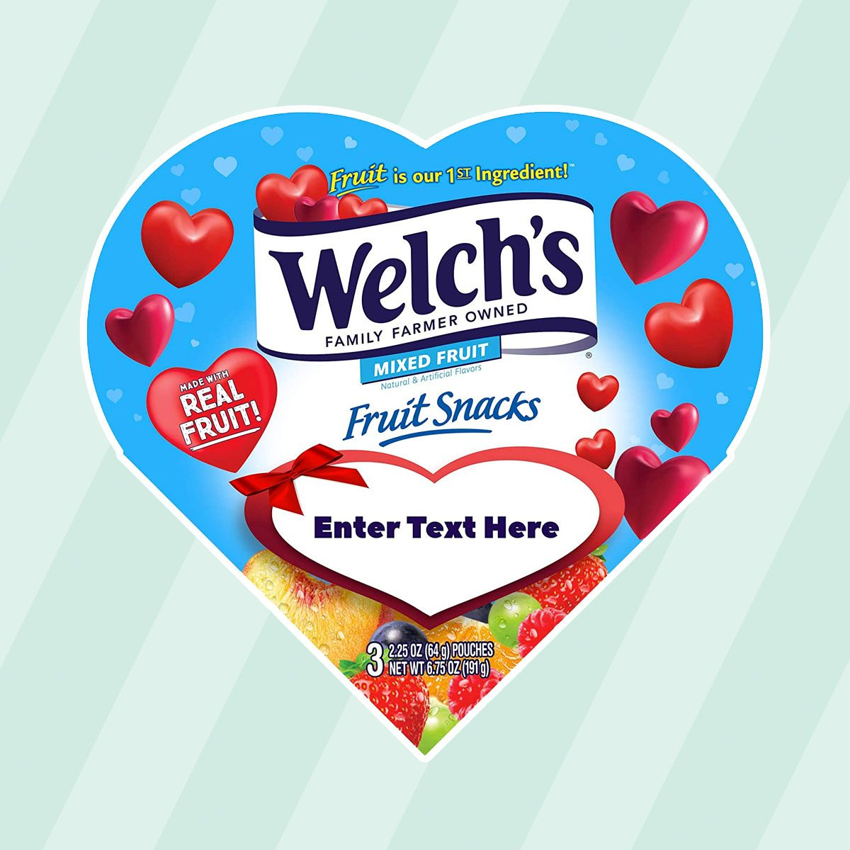 Welchs Fruit Snacks Valentines Day Box