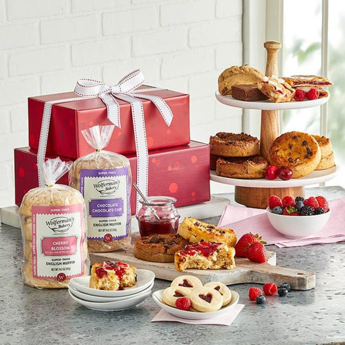 Wolfermans Bakery Valentines Day Gift Tower 1